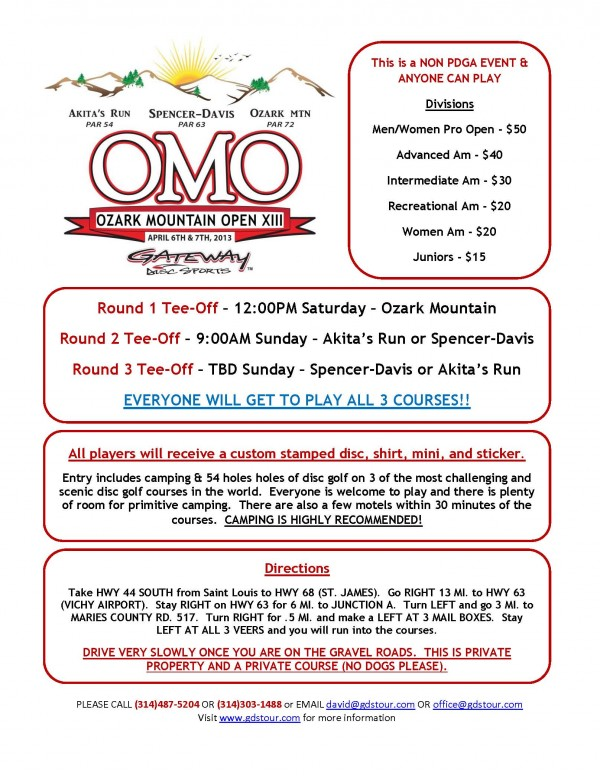 Ozark Mountain Open Flyer 2013